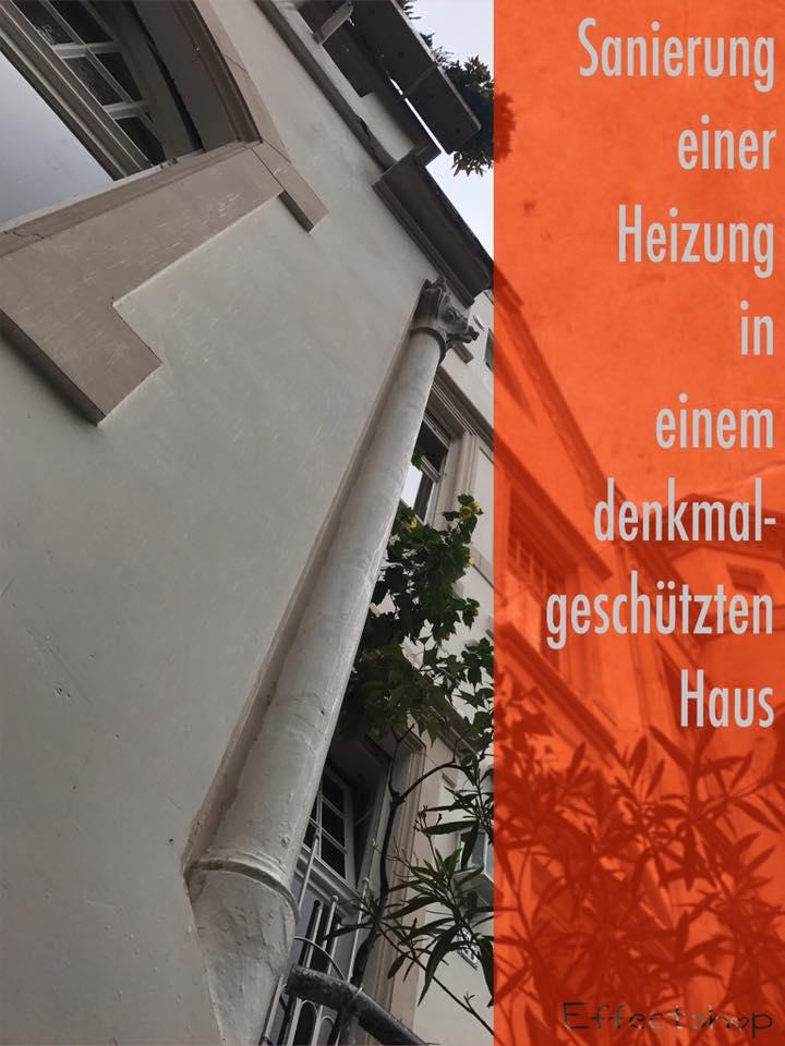 Bauablauf Heizungssanierung in einem denkmalgeschützten Haus in Wuppertal